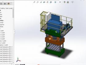 机床加工设备-600T精密冲床solidworks模型3D图纸