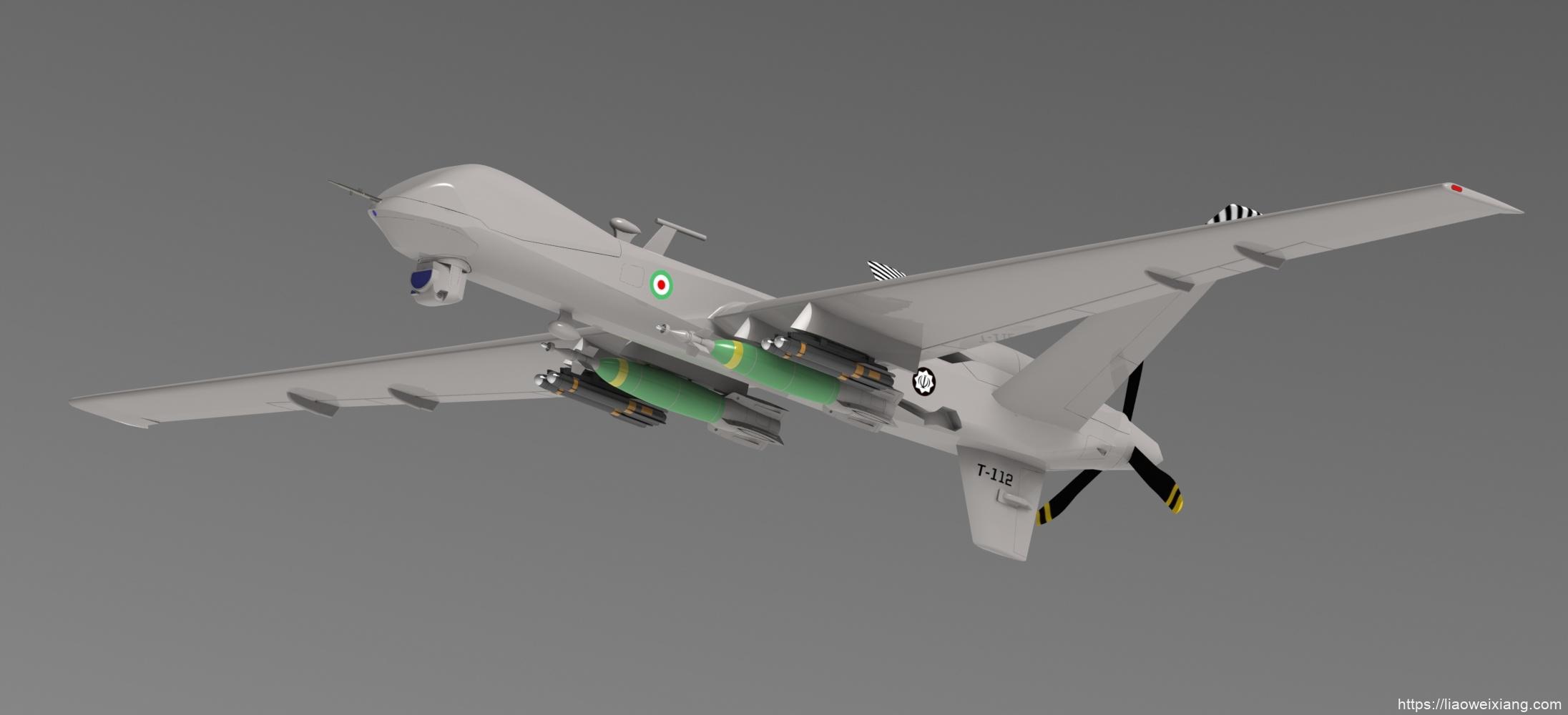 MQ-9无人机3D数模图纸-CATIA设计-附IGS-STEP格式