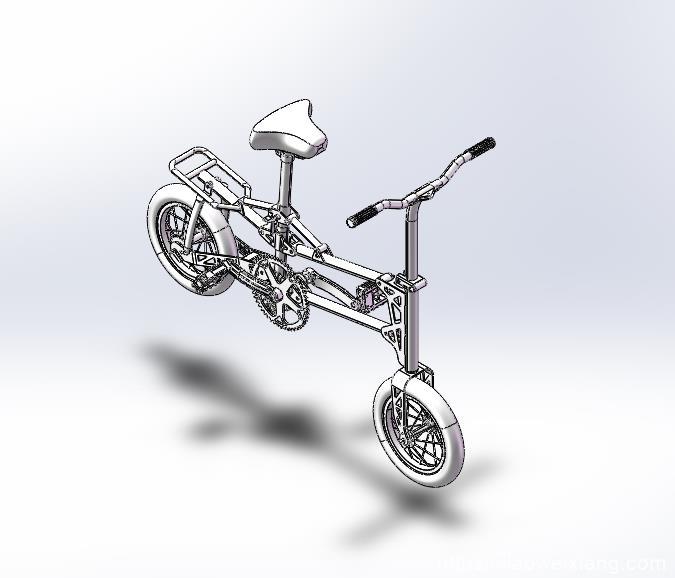 小型自行车Q14模型3D图 SLDPRT-STPE格式